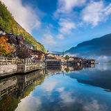 Misty lake at dawn in the Alps Royalty Free Stock Photo