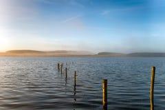 Misty lake Royalty Free Stock Image