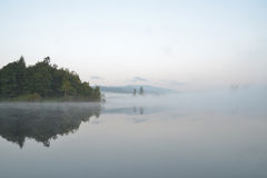 Misty lake in Tofino, BC, Canada Stock Image