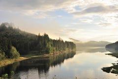 Misty landscape Sösestausee Stock Image