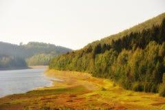 Misty landscape in Sösestausee Stock Images