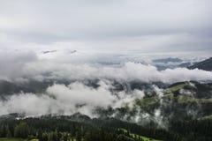 Misty landscape in Tirol, Austria Stock Image