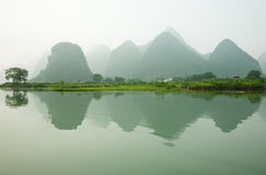 Misty Li River Royalty Free Stock Photos
