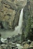 Misty Lower Yosemite Falls Fotografia Stock