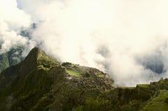 Misty Machu Picchu Stockfoto