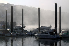 Misty marina Royalty Free Stock Image