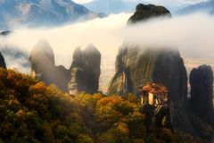 Misty Meteora Royalty Free Stock Photos