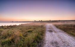 Misty Moorland Track royaltyfria foton