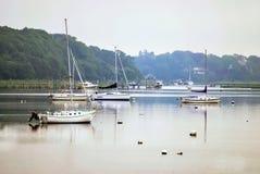 Misty Morn Marina Royalty Free Stock Image