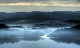 Misty morning. In the end of november Royalty Free Stock Photos