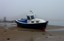Misty morning, Alnmouth beach, Northumberland Stock Images