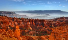 Misty Morning Among The Hoodoos royalty free stock images