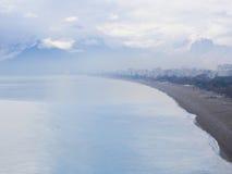 Misty morning in Antalya city in Turkey near the sea Stock Images