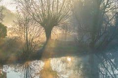 Misty Morning au prieuré photo stock