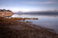 Misty morning on the bay Royalty Free Stock Photo
