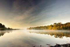 Misty morning. Beautiful dream fog water white Royalty Free Stock Image