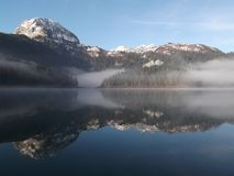 The Misty Morning on the lake Royalty Free Stock Photos