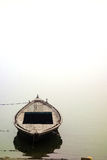 Misty Morning boat on the Ganges royalty free stock photography