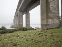 Misty Morning Bridge Stock Photos