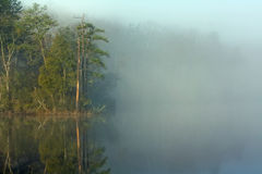 Misty morning on College Creek in Virginia Stock Image