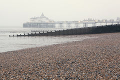 Misty morning in Eastbourne Royalty Free Stock Image