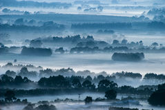 Misty morning. Misty field early morning taken from an elevated position Royalty Free Stock Photo