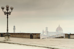 Misty morning in Florence Stock Image