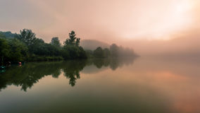Misty morning in France Stock Photography