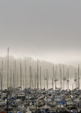 Misty Morning Harbour & Marina, Ireland Royalty Free Stock Photos