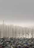 Misty Morning Harbour & Marina, Ireland Royalty Free Stock Photos