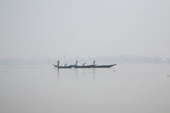 Misty morning on the holiest of rivers in India. Ganges delta in Sundarbans, India Stock Photography