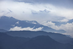 Misty morning at Kanchenjunga  range Stock Image