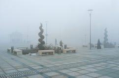 The misty morning in Konya Stock Image