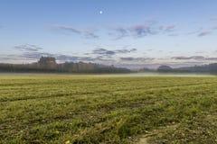 Misty morning in Kruszyniany, Poland Stock Photography