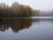 Misty morning on lake Royalty Free Stock Photography