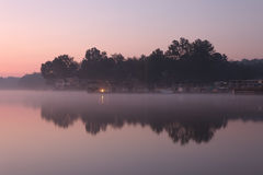 Misty morning at the lake Stock Photography