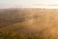 Misty morning landscape Royalty Free Stock Photo