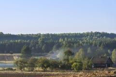 Misty morning landscape in Poland Stock Images