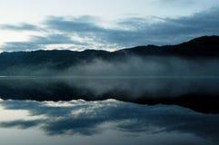 Misty morning on Loch Ness lake Stock Image