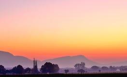 Misty Morning. Magaliesberg Mountain Range South Africa Early Winter Morning Stock Photos