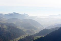 Misty morning mountain landscape Royalty Free Stock Photo