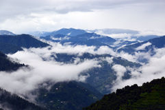 Misty morning over the mountains Royalty Free Stock Image