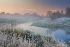 Misty morning on a river Stock Photography