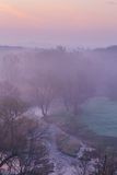 Misty morning on the river Royalty Free Stock Photo