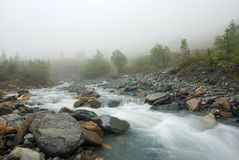 Misty morning river Stock Photography