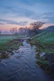 Misty morning on the river Stock Photography