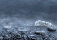 Misty Morning Rocks Stock Image