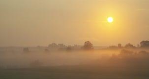 Misty morning sunrise royalty free stock photography