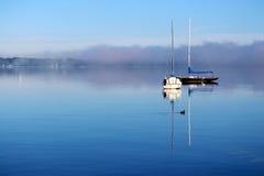 Misty Morning Sunrise Imagem de Stock Royalty Free