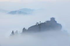 Misty Morning in Szech Svizzera Fotografie Stock Libere da Diritti